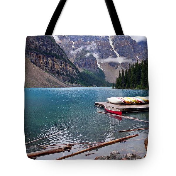 Moraine Lake, Ab  Tote Bag