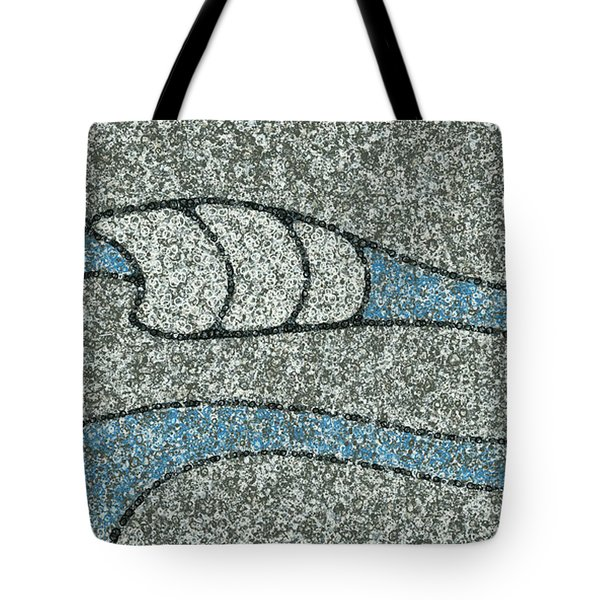 Tote Bag featuring the painting Dream Wave by Keith McGill