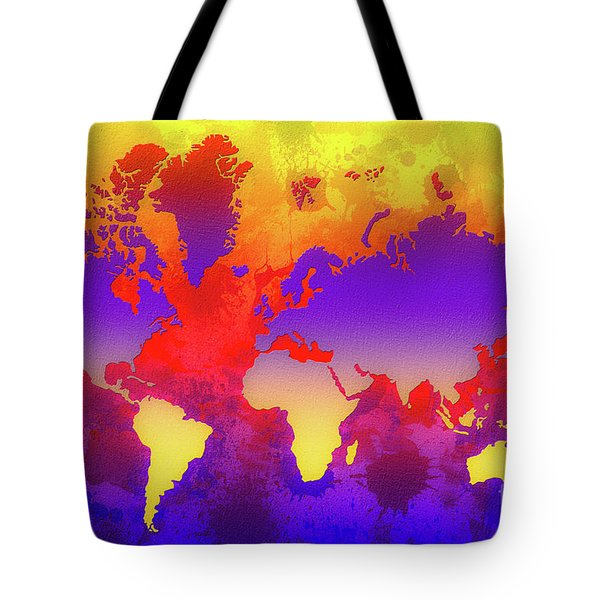 Dream World Map Tote Bag