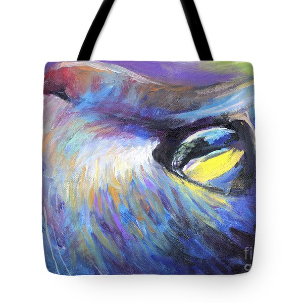 Dreamer Tubby Cat Painting Tote Bag