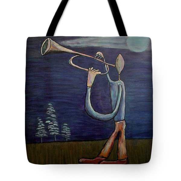 Tote Bag featuring the painting Dreamers 13-002 by Mario Perron