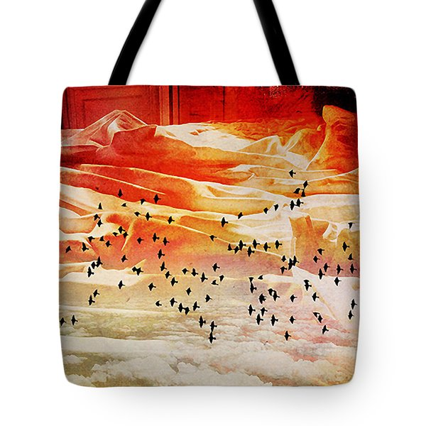 Dreaming Between The Sheets Tote Bag