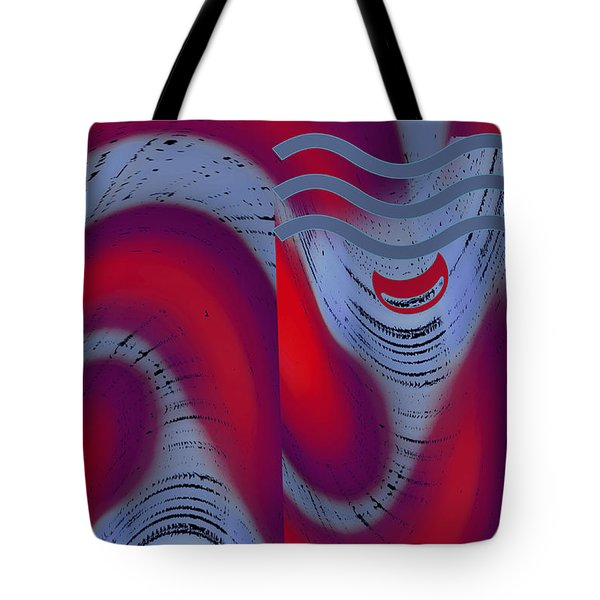 Tote Bag featuring the digital art Dreaming Clown by Ben and Raisa Gertsberg