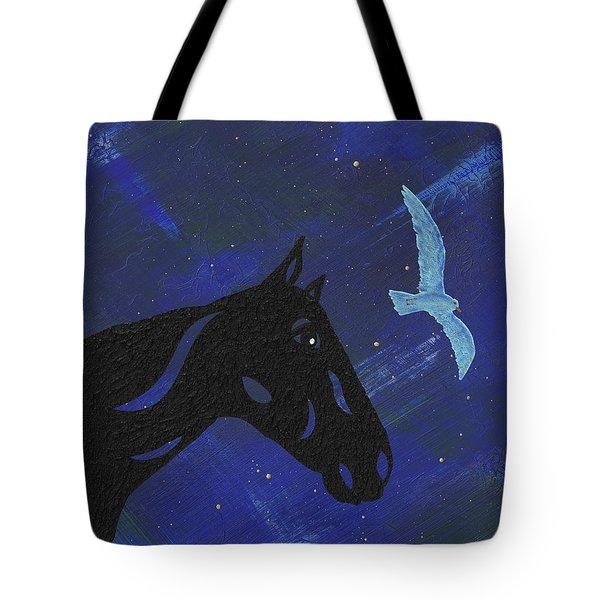 Dreaming Horse Tote Bag by Manuel Sueess