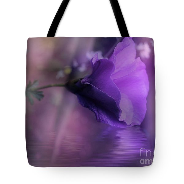 Tote Bag featuring the photograph Dreaming In Purple by Elaine Teague