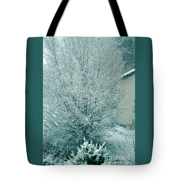 Tote Bag featuring the photograph Dreaming Of A White Christmas - Winter In Switzerland by Susanne Van Hulst