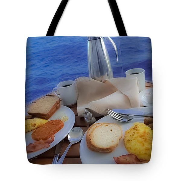 Tote Bag featuring the photograph Dreaming Of Breakfast At Sea by DigiArt Diaries by Vicky B Fuller