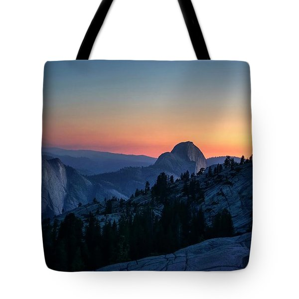 Tote Bag featuring the photograph Dreaming Of Climbing Half Dome by Peter Thoeny