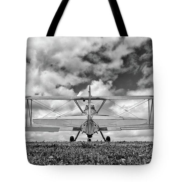 Dreaming Of Flight, In Black And White Tote Bag