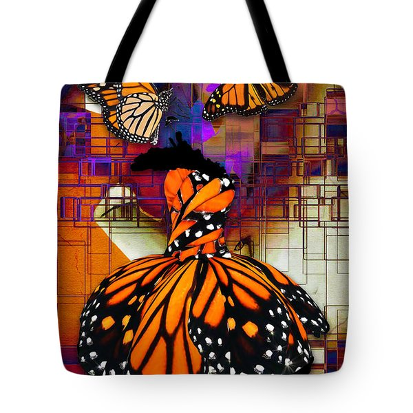 Tote Bag featuring the mixed media Dreaming Of Flying High by Marvin Blaine