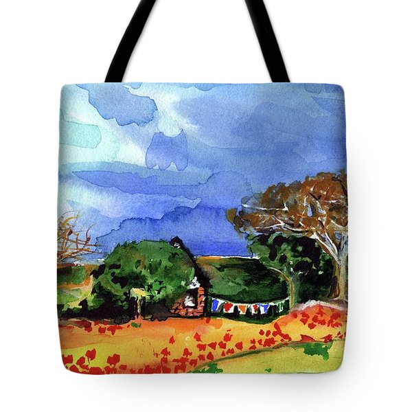 Tote Bag featuring the painting Dreaming Of Malawi by Dora Hathazi Mendes