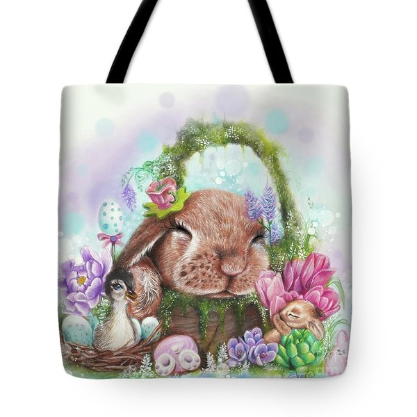 Tote Bag featuring the mixed media Dreaming Of Spring - Dreaming Of Collection  by Sheena Pike