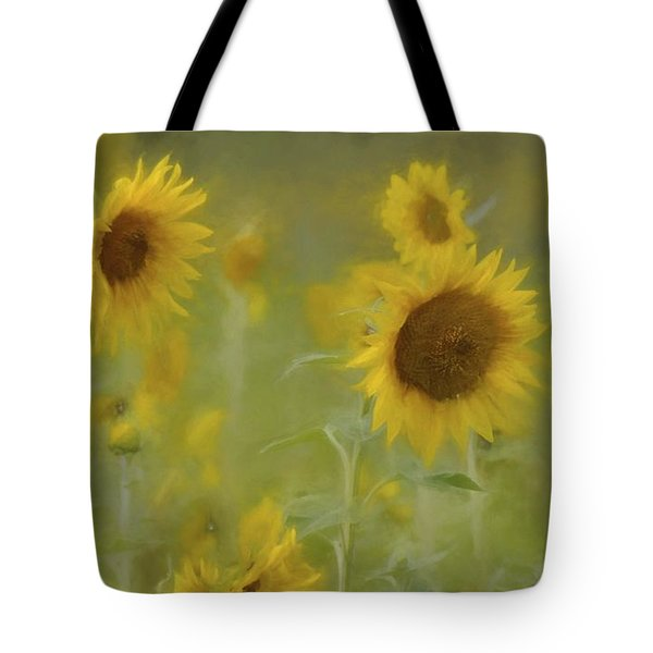 Tote Bag featuring the photograph Dreaming Of Sunflowers by Benanne Stiens