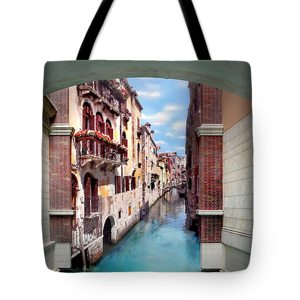 Dreaming Of Venice Vertical Panorama Tote Bag
