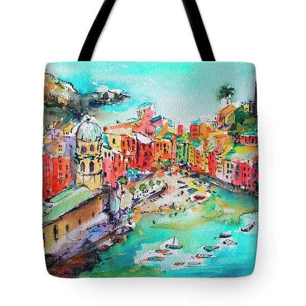 Dreaming Of Vernazza Cinque Terre Italy Tote Bag