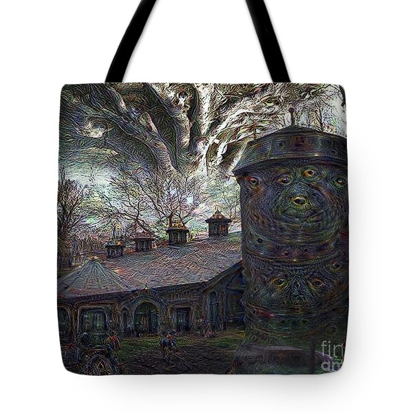 Tote Bag featuring the digital art Dreaming Silent Screaming by Rhonda Strickland