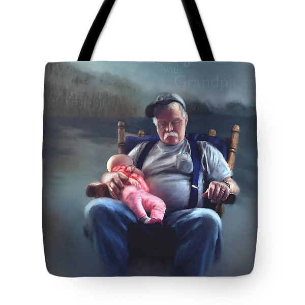 Dreaming With Grandpa Tote Bag