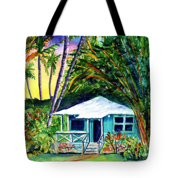 Tote Bag featuring the painting Dreams Of Kauai 2 by Marionette Taboniar