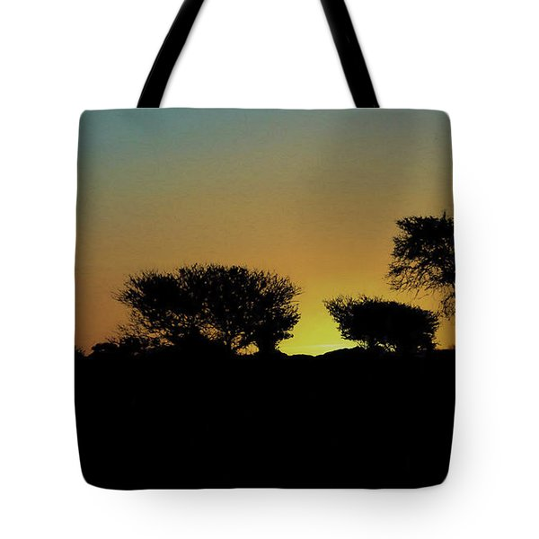 Dreams Of Namibian Sunsets Tote Bag by Ernie Echols