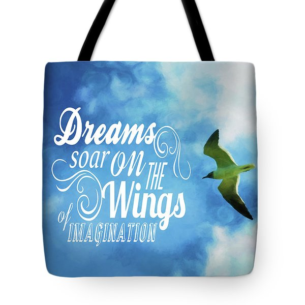 Tote Bag featuring the photograph Dreams On Wings by Jan Amiss Photography