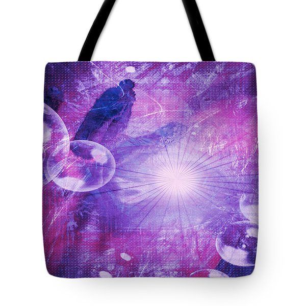 Tote Bag featuring the digital art Flower Fractals  by Fine Art By Andrew David