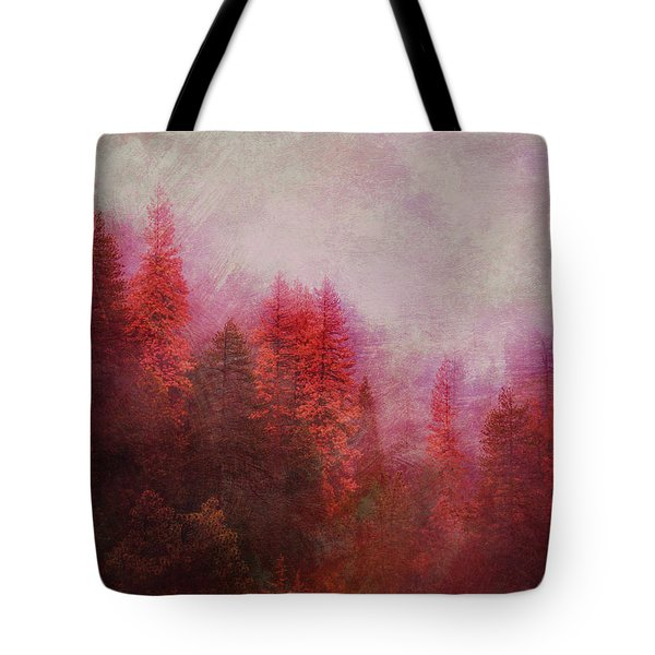 Tote Bag featuring the digital art Dreamy Autumn Forest by Klara Acel