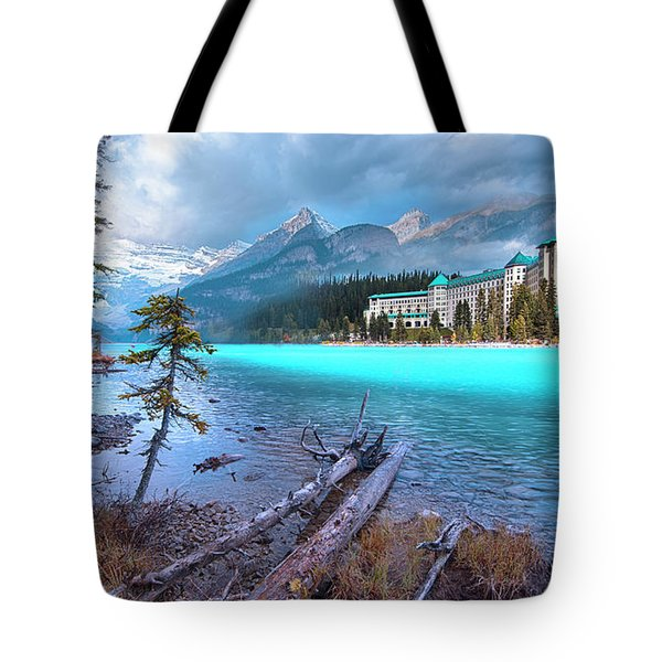 Dreamy Chateau Lake Louise Tote Bag