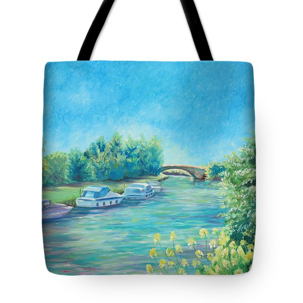 Tote Bag featuring the painting Dreamy Days by Elizabeth Lock