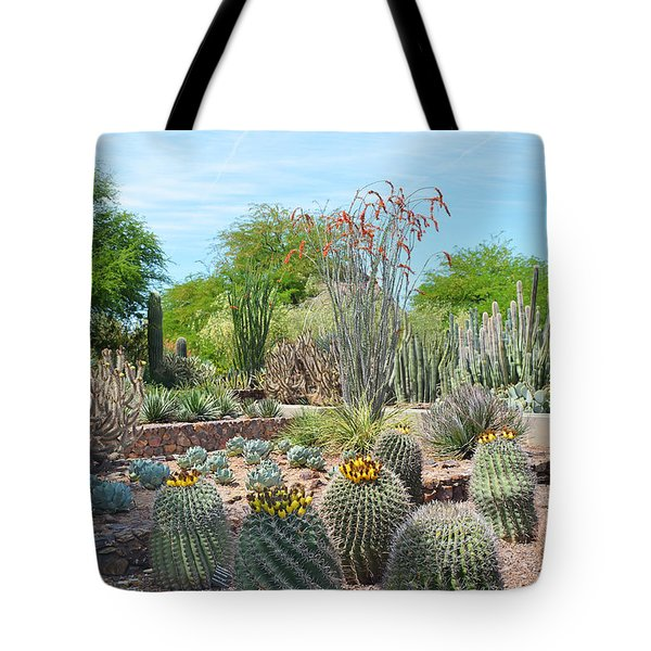 Dreamy Desert Cactus Tote Bag by Aimee L Maher Photography and Art Visit ALMGallerydotcom
