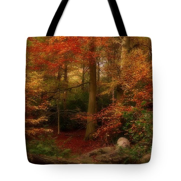 Dreamy Forest Glade In Fall Tote Bag