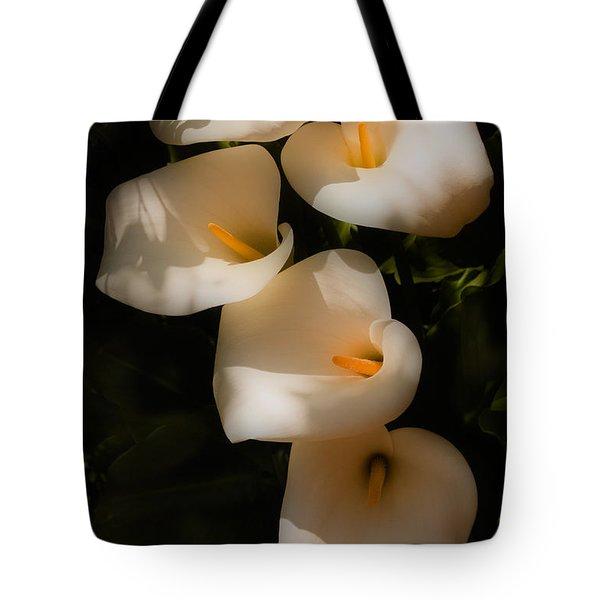 Dreamy Lilies Tote Bag by Mick Burkey