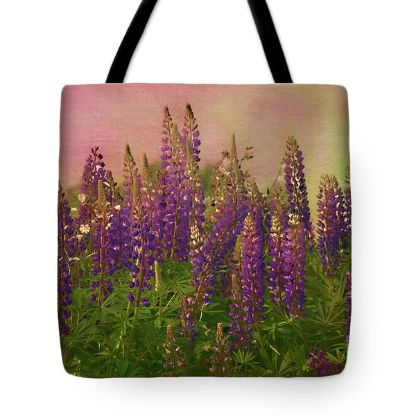 Dreamy Lupin Tote Bag by Deborah Benoit