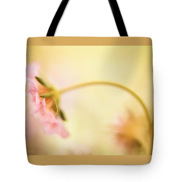 Tote Bag featuring the photograph Dreamy Pink Flower by Bonnie Bruno