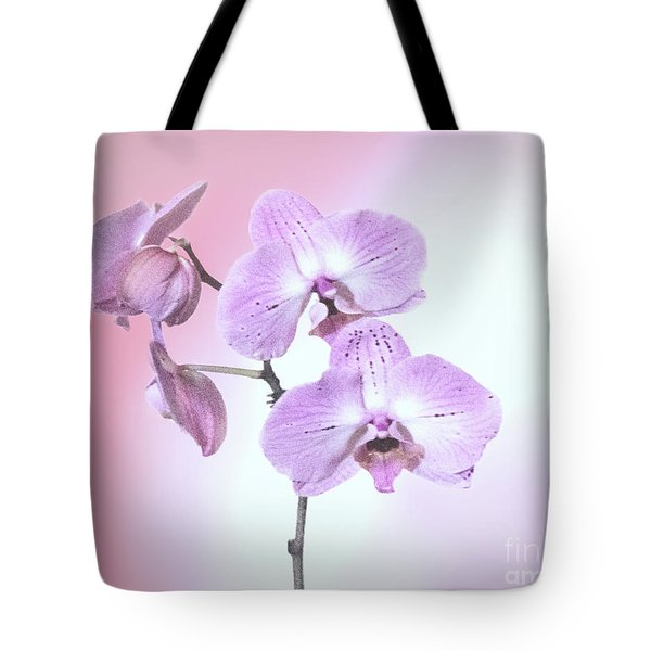 Tote Bag featuring the photograph Dreamy Pink Orchid by Linda Phelps