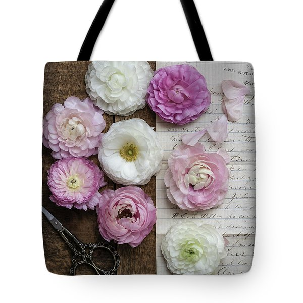 Tote Bag featuring the photograph Dreamy Ranunculus  by Kim Hojnacki