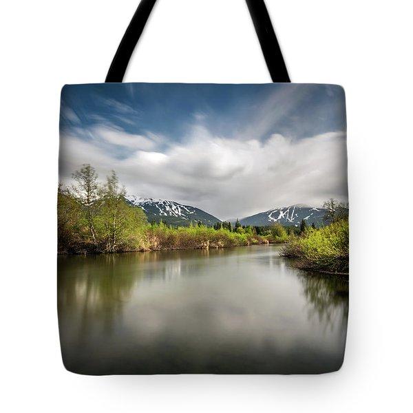 Dreamy River Of Golden Dreams Tote Bag