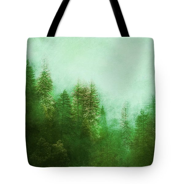 Tote Bag featuring the digital art Dreamy Spring Forest by Klara Acel
