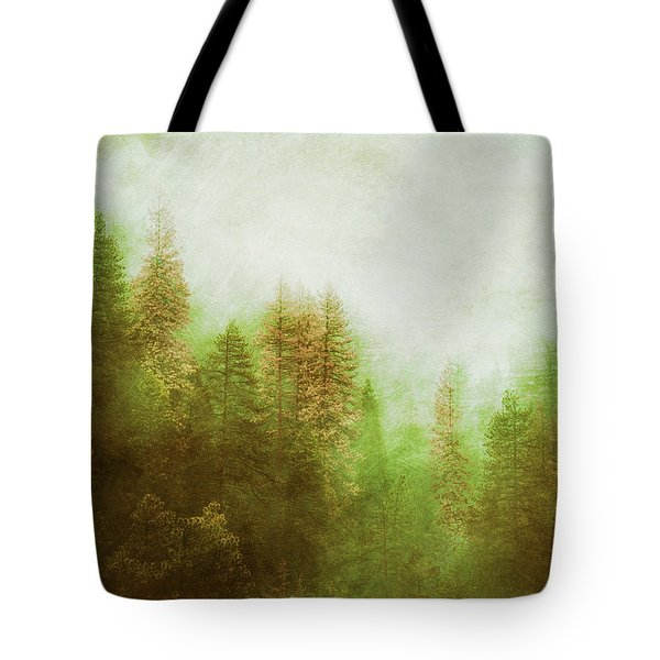 Tote Bag featuring the digital art Dreamy Summer Forest by Klara Acel