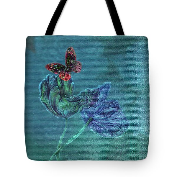 Dreamy Tulip With Gemlike Butterfly Tote Bag