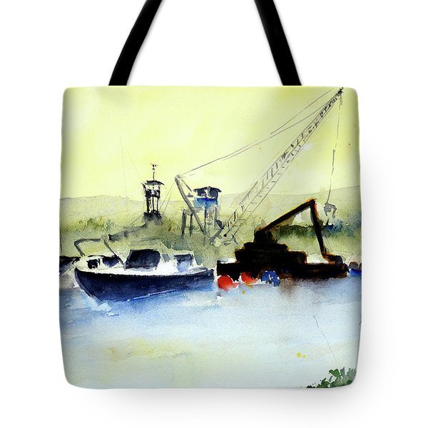 Dredging At Marin Yacht Club Tote Bag