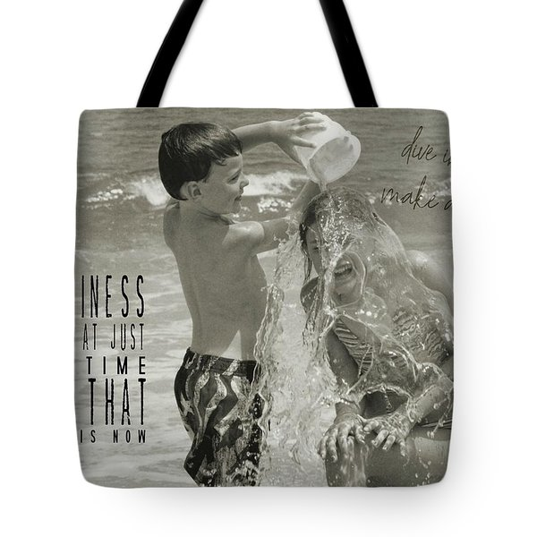Drenched Quote Tote Bag by JAMART Photography