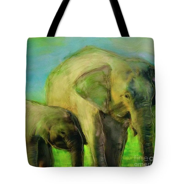 Dreaming Of Elephants Tote Bag