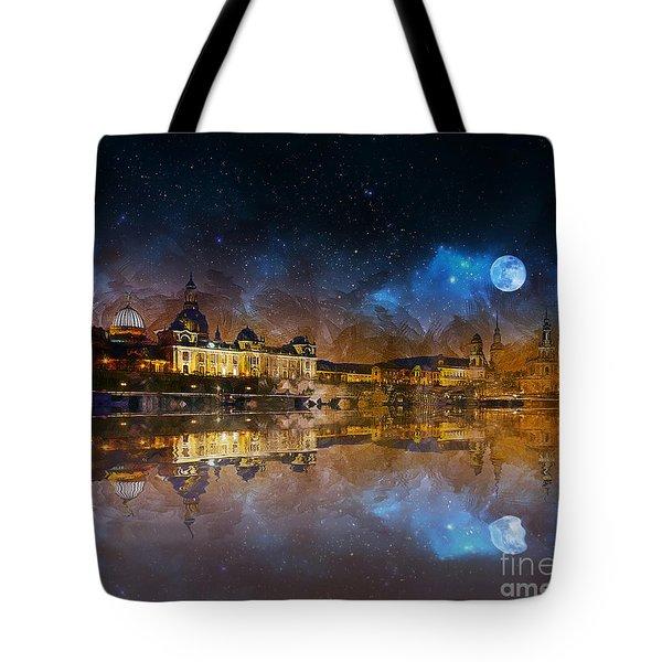 Dresden At Night Tote Bag
