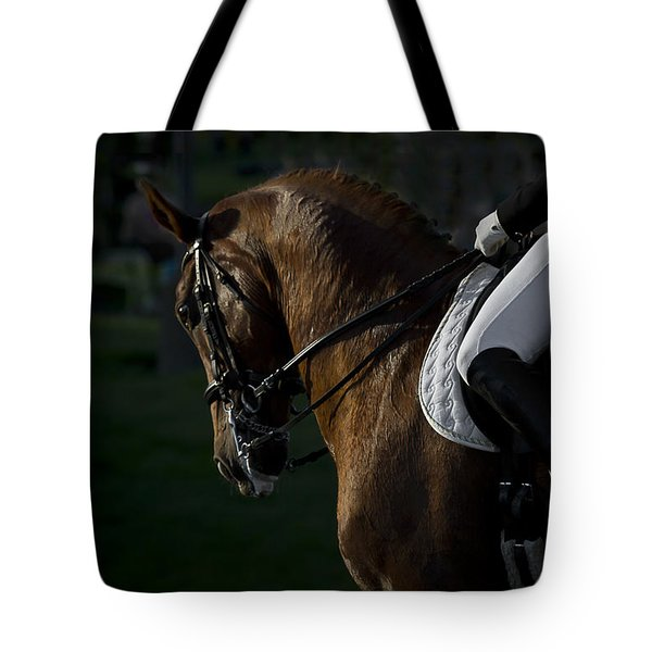 Tote Bag featuring the photograph Dressage D5284 by Wes and Dotty Weber
