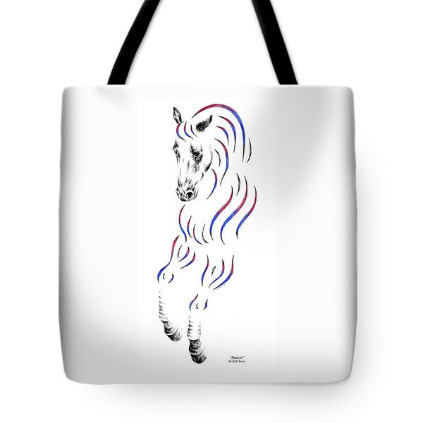 Dressage Horse Dancer Print Tote Bag