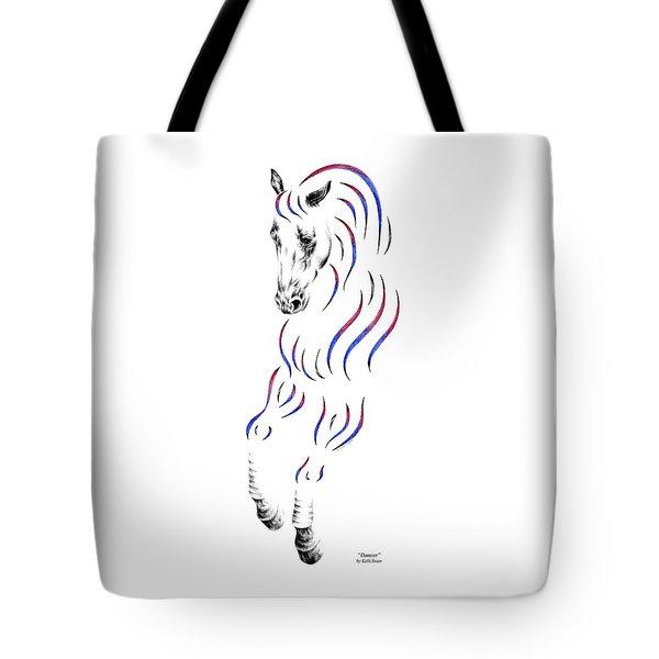 Dressage Horse Dancer Print Tote Bag