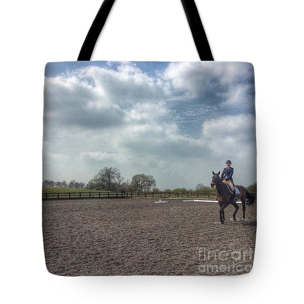 Dressage #horses #horse #horseriding Tote Bag