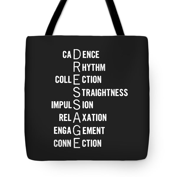 Dressage Pyramid Defined Tote Bag