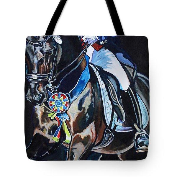 Dressage Stallion Tote Bag