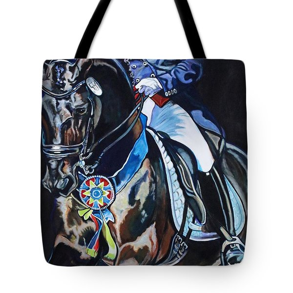 Dressage Stallion Tote Bag